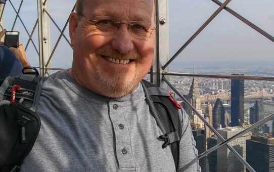 Mitch James at the Empire State Building