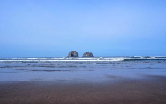 Twin Rocks at Rockaway Beach