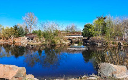 Pond and Bridge at Fernhill Wetlands